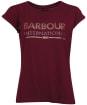 Women's Barbour International Strike Tee - Dark Rhubarb