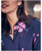 Women's Joules Elvina Button Front Woven Shirt - Navy Spaced Floral
