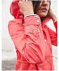Women's Joules Shoreside Waterproof Jacket - Poppy