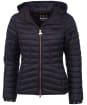 Women's Barbour International Score Quilted Jacket - Black