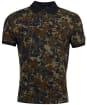 Men's Barbour International Hem Camo Polo Shirt - Jungle Green