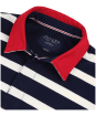 Men's Joules Onside Rugby Shirt - Navy / Cream Stripe
