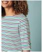 Women's Crew Clothing Orchid Stripe Top - Navy / Ultramarine / White