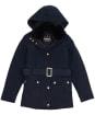 Girl's Barbour International Bowden Waterproof Jacket - Black
