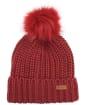 Women's Barbour Saltburn Bobble Hat - Burnt Red