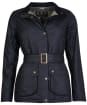 Women's Barbour Montgomery Waxed Jacket - Black