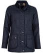Women's Barbour Gibbon Waxed Jacket - Navy