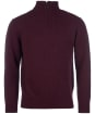 Men's Barbour Essential Wool Half Zip Sweater - Merlot