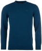 Men's Barbour Essential Lambswool Crew Neck Sweater - Dark Aqua
