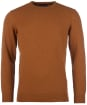 Men's Barbour Essential Lambswool Crew Neck Sweater - Dark Copper