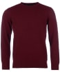 Men's Barbour Essential Lambswool Crew Neck Sweater - Ruby