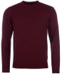 Men's Barbour Patch Crew Neck Lambswool Sweater - Merlot Marl
