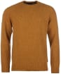 Men's Barbour Netherton Crew Sweater - Copper
