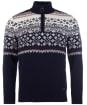 Men's Barbour Fairisle Half Zip Sweater - Navy