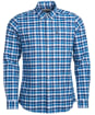 Men's Barbour Country Check 15 Tailored Shirt - Blue Check