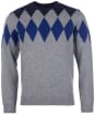Men's Barbour Diamond Crew Sweater - Grey Marl
