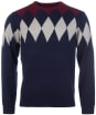 Men's Barbour Diamond Crew Sweater - Navy
