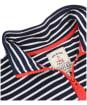 Women's Joules Pip Casual Half Zip Sweatshirt - Navy / Cream Stripe