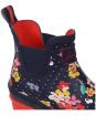Women's Joules Wellibob Short Wellington Boots - Navy Blossom Spot