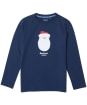 Boy's Barbour Father Christmas Hawthorn Tee - Navy