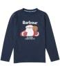 Boy's Barbour Father Christmas Elder Tee - Navy