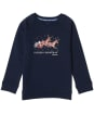 Girl's Barbour Father Christmas Rosie Overlayer - Navy