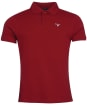 Men's Barbour Tartan Pique Polo Shirt - Crimson