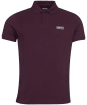 Men's Barbour International Essential Polo - Dark Burgundy