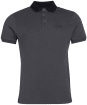 Men's Barbour International Contrast Polo Shirt - Black Gargoyle