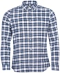 Men's Barbour Highland Check 42 Tailored Shirt - White Check
