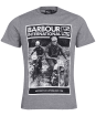 Men's Barbour International Racer Tee - Anthracite Marl