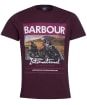 Men's Barbour International Racer Tee - Dark Burgundy