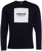 Men's Barbour International Block Print L/S Tee - Black