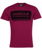 Men's Barbour International Frame Tee - Berry