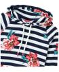 Women's Joules Marlston Print Hooded Sweatshirt - Cream