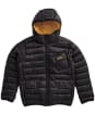 Boy's Barbour International Ouston Hooded Quilted Jacket, 10-15yrs - NEW BLACK/YELLW