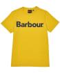 Boy's Barbour Logo Tee, 10-15yrs - YOLK