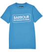 Boy's Barbour International Essential Large Logo Tee, 6-9yrs - PURE BLUE
