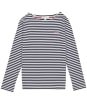 Girls Barbour Bradley Stripe Top – 6-9yrs - Navy Stripe