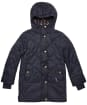 Girls Barbour Tynemouth Quilted Jacket – 6-9yrs - Navy