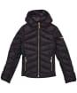 Girl's Barbour International Grid Quilted Jacket – 10-15yrs - Black