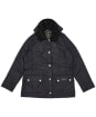 Girls Barbour Hooded Beadnell Wax Jacket – 6-9yrs - Royal Navy