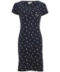 Women's Barbour Harewood Print Dress - Navy Boat Print