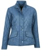 Women's Barbour Flyweight Cavalry Quilted Jacket - China Blue