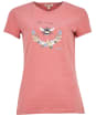 Women's Barbour Bowland Tee - Dusty Pink