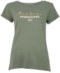 Women's Barbour International Grid Tee - Lt Army Green