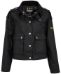 Women's Barbour International Burnout Waxed Jacket - Black