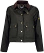 Women's Barbour International Burnout Waxed Jacket - Archive Olive