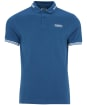 Men's Barbour International Essential Tipped Polo Shirt - Mid Blue