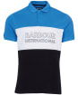 Men's Barbour International Bold Polo Shirt - PURE BLUE